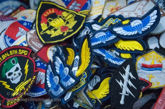 "A selection of fake patches found at the Dan Sinh ""War Surplus"""