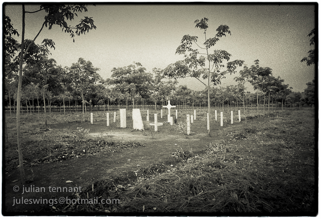 Battlefield memorial at Long Tan, 1998.