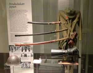 National Museum Negara. The small selection of items related to the Japanese occupation of Malaya during WW2.