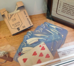 Playing cards belonging to POW, VX39853 Paddy Mansfield.