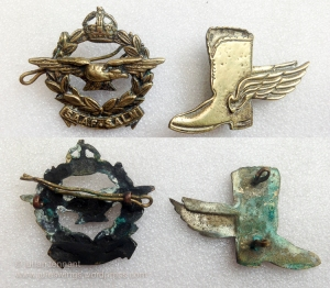 SAAF cap badge & winged boot award