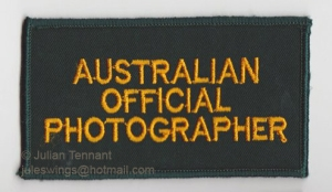 Australian War Memorial Official War Photographer patch worn by