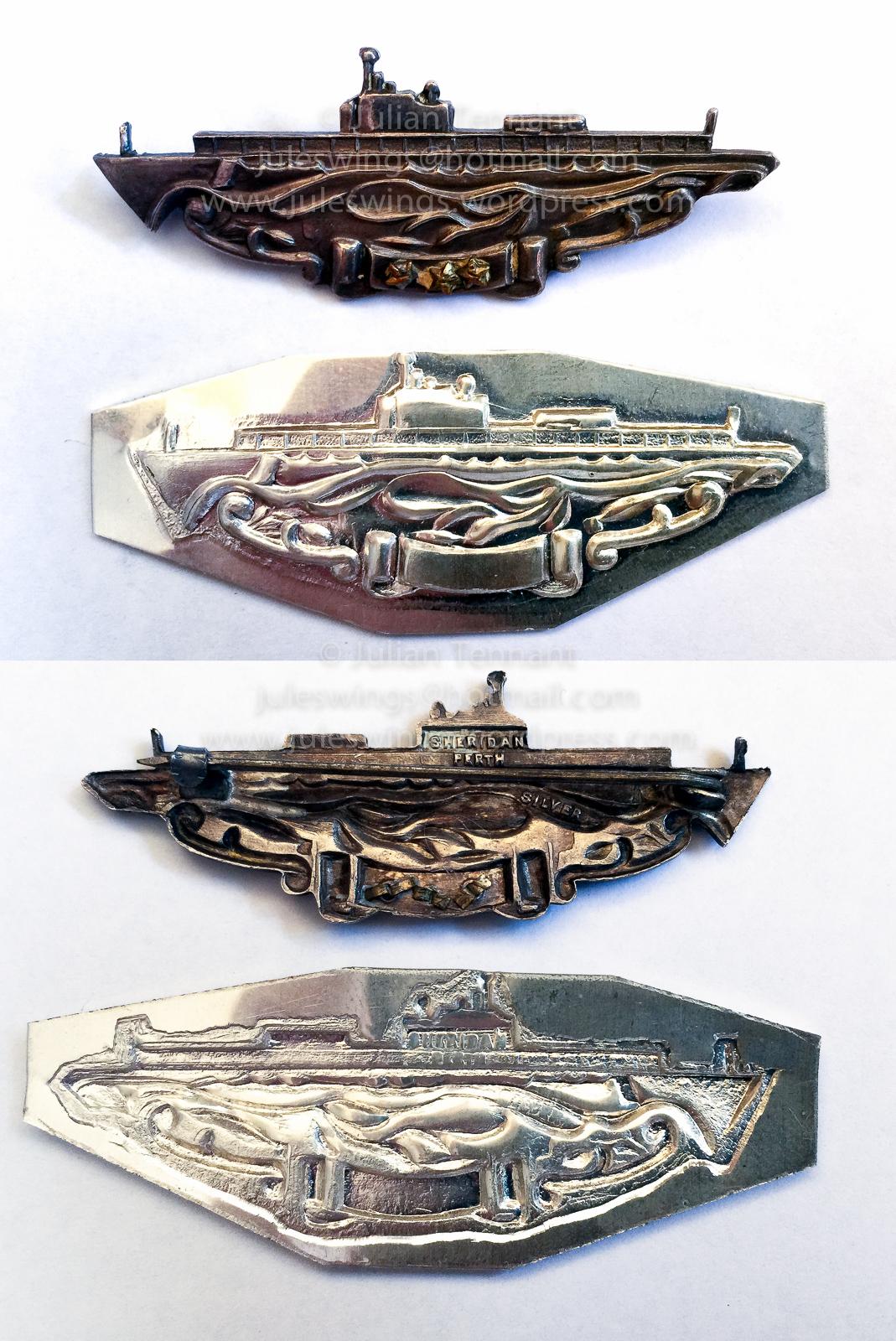 Australian made USN Submarine Combat InsigniaRestrike