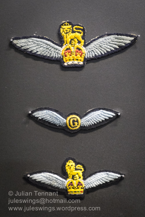 Glider Pilot Regiment Pilot wings. At first all Glider Pilots were awarded the Army Flying Badge (top). From 1944 new pilots were initially trained as Second Pilots and awarded the Second Glider Pilot Badge (middle). Successful completion of a Heavy Glider Conversion Course qualified Second Pilots for the Army Flying Badge. This system operated until 1950 when glider training ceased. In 1946 a smaller pattern of the Army Flying BAdge was adopted (bottom).