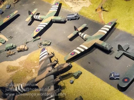 D-Day Glider lift diorama