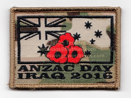 Task Group Taji ANZAC Day 2016 patch