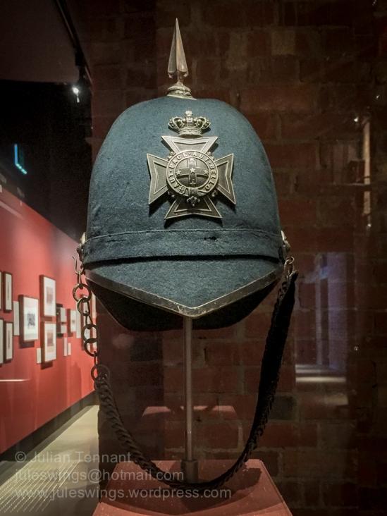 Ballarat Rangers Helmet c.1880 in the Pre-Federation Gallery.