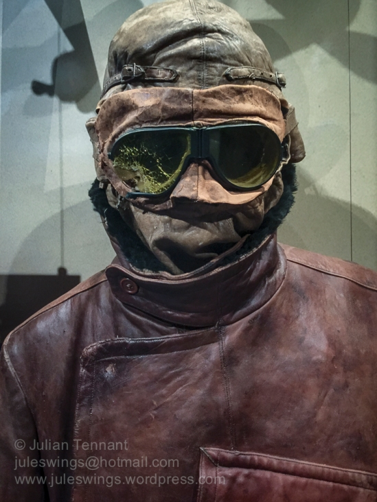 WW1 Aviators helmet, goggles and jacket in the First World War G