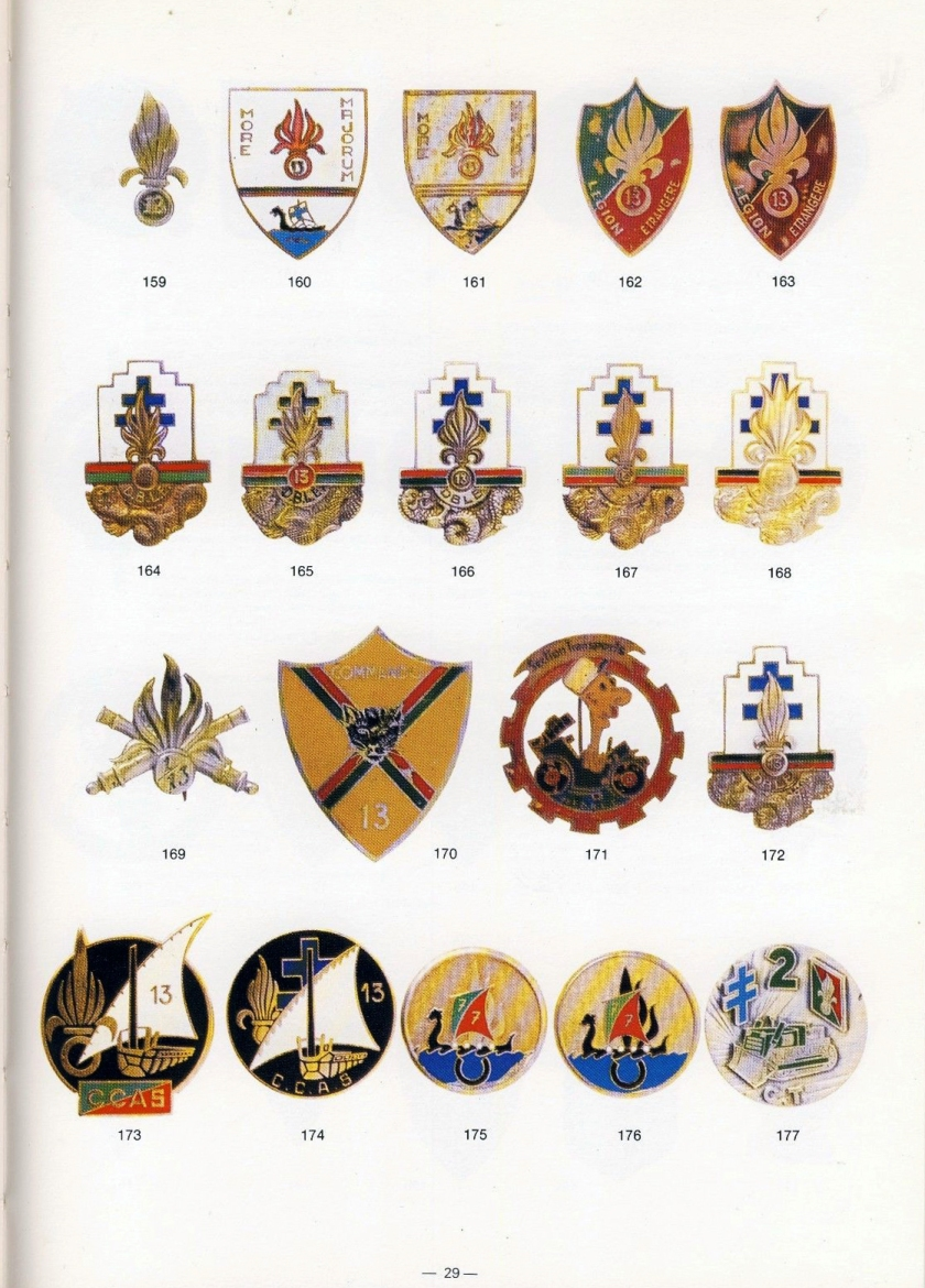 Badges of the French Foreign Legion 1923-1989 by Philippe Bartle