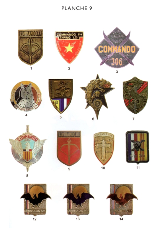 COMMANDOS ET FORCES SUPPLETIVES INDOCHINE 1945-1954