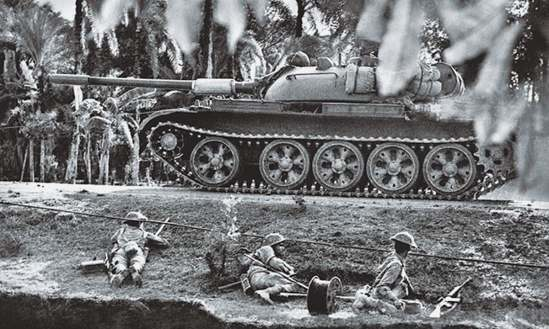 Pakistani troops during an operation against India during the 1971 Liberation War. Photographer unknown.