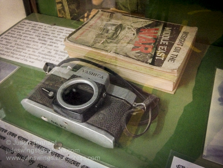 Books and camera used by Sector-2 commander Major Khaled Mosharr. Photo: Julian Tennant