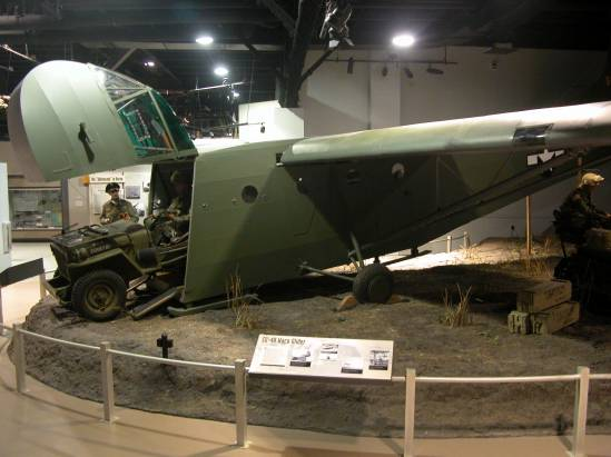 World War II CG-4A Glider Exhibit at the Airborne & Special Operations Museum, Fayetteville, North Carolina.