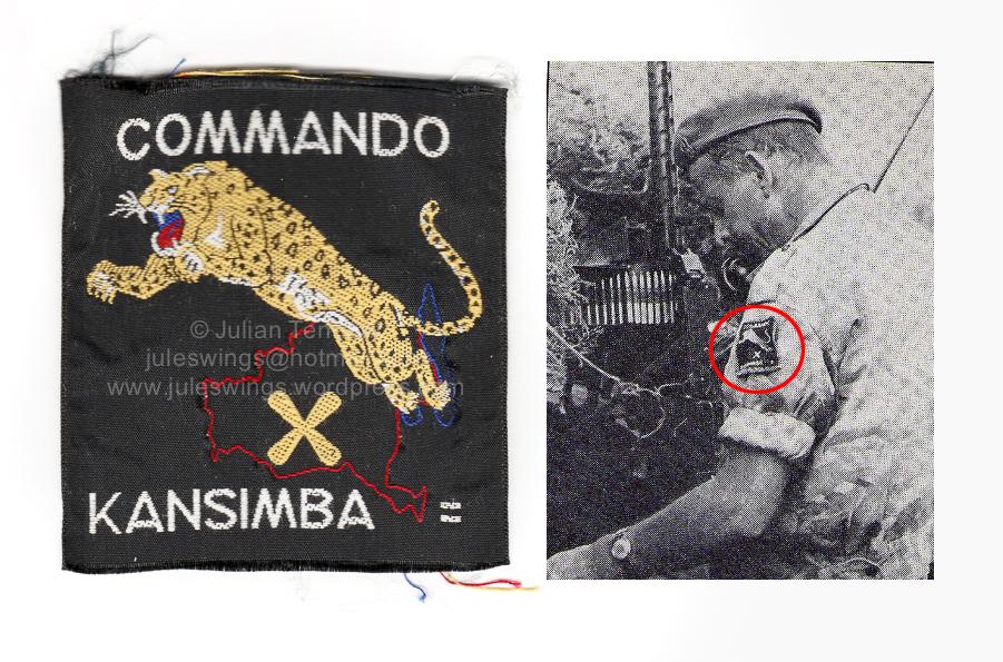 Congo Mercenary 10 Commando (Commando Kansimba) patch type 2