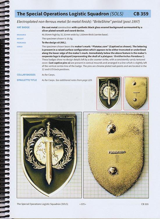 REFERENCE BOOK: Metal Uniform Embellishments of the Australian Army – Post 53 ('QE II series') – Volumes 1 &2
