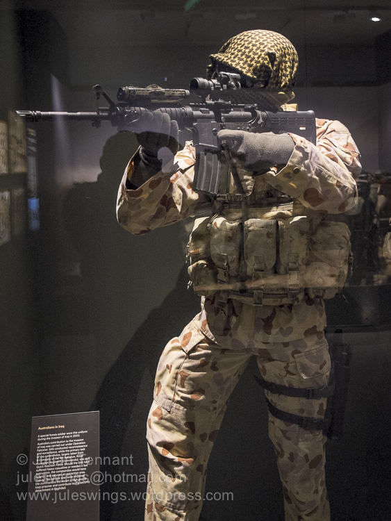Australian Special Forces uniform worn during the invasion of Iraq in 2003.