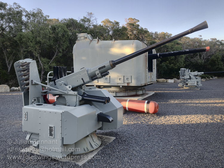 Bofors and other artillery pieces on the Navy Discovery trail