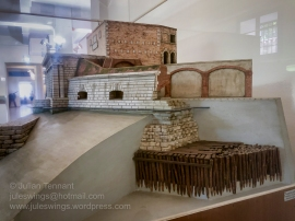 Scale model describing how Venetian fortifications were 'floated' on the lagoon bed.