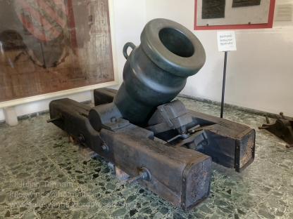 Turkish bronze mortar captured from the Sultan of Tripoli's fort during the war in Libya 1911-1912.
