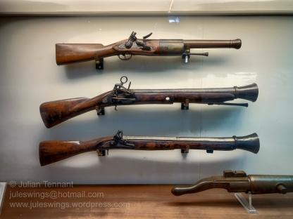 Firearms on display at the Museo Storica Navale