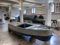 The MTM or modified explosive boat, known as the little explosive boat was designed for individual attack on enemy bases. The pilot would steer the assault craft at full speed towards the target and jump from the boat just before impact and detonation.