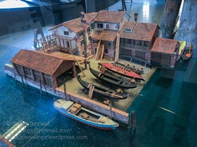 Scale model of a gondala workshop