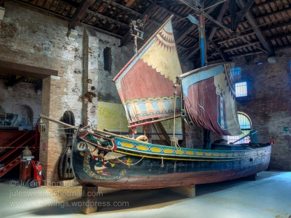 Fishing boat on display in the Ships Pavilion.