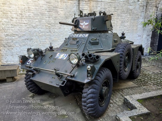 Ferret Scout car used by the Guards Independent Parachute Company.