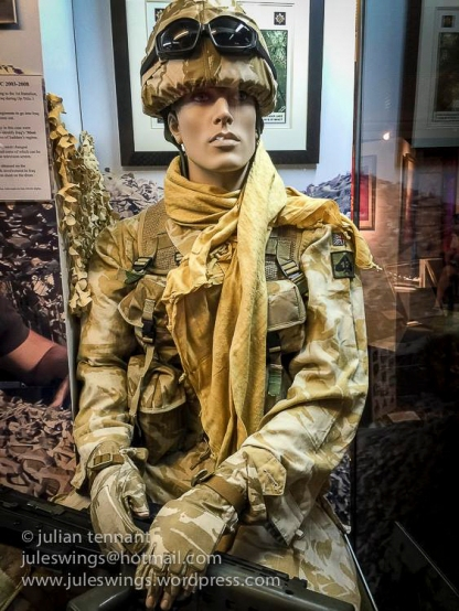 Guards desert disruptive pattern uniform worn during deployments to the Middle East.