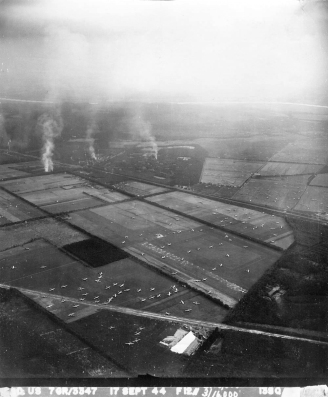 USAAF aerial photograph of Landing Zone 'S', Wolfheze, 17 September 1944.