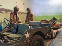 British airborne troops and vehicles at the Airborne Experience diorama at the Airborne Museum Hartenstein. Photo: Julian Tennant.