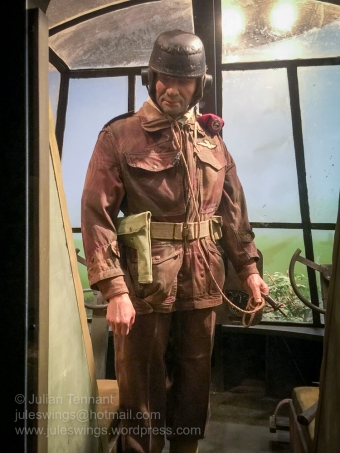 Glider pilot at the Airborne Experience diorama in the Airborne Museum Hartenstein. Photo: Julian Tennant