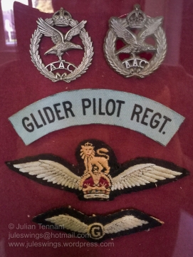 Insignia worn by members of the Glider Pilot Regiment. Photo: Julian Tennant