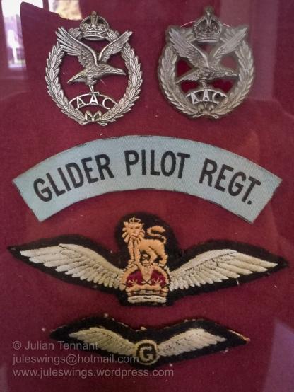 Insignia worn by members of the Glider Pilot Regiment. Photo: Julian Tennant