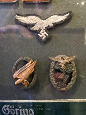 German Luftwaffe insignia on display at the Airborne Museum Hartenstein. Photo: Julian Tennant