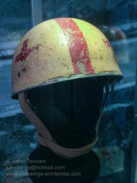 1st Airborne Division medic's helmet. Photo: Julian Tennant