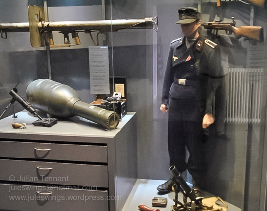 German uniforms and equipment used during the battle for Arnhem's bridges. Photo: Julian Tennant