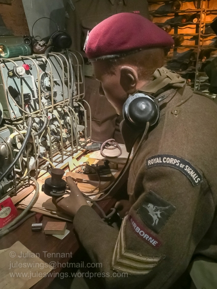 Signaller in the Command Post diorama at the Airborne Museum Hartenstein. Photo: Julian Tennant