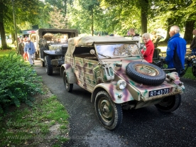 Military vehicles being inspected by visitors to the Airborne Museum Hartenstein for the Operation Market Garden commemoration held every September. Photo: Julian Tennant
