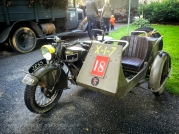 Norton WD Big 4 motorcycle and side-car at the commemoration event held at the museum each September. Photo: Julian Tennant
