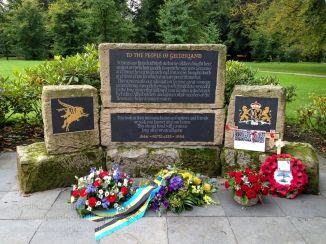 Memorial to the People of Gelderland on the grounds of the Airborne Museum Hartenstein. Photo: Julian Tennant