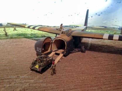 Glider Collection Wolfheze. Unloading a General Aircraft GAL-49/50 Hamilcar Glider. Detail from one of the dioramas on display at the museum. Photo: Julian Tennant