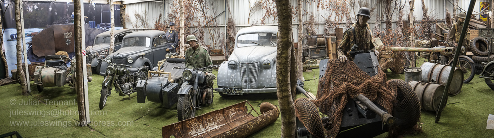 Some of the military vehicles on display at the Arnhem Oorlogsmuseum. Photo: Julian Tennant