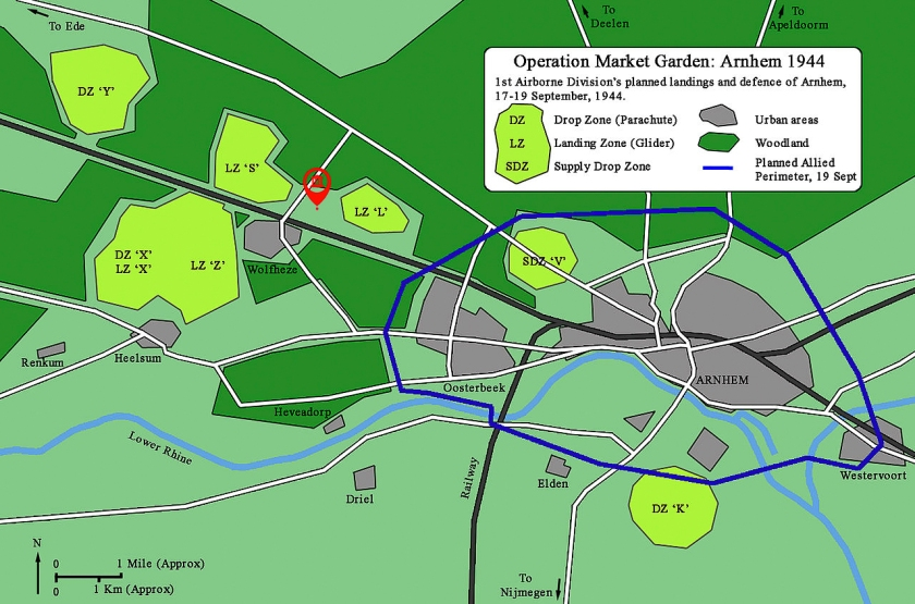 Operation Market Garden Glider Collection Wolfheze map-01