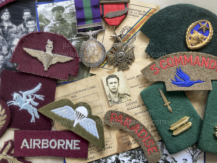Congo Mercenary. British Parachute Regiment & 5 Commando (the Wild Geese)group.