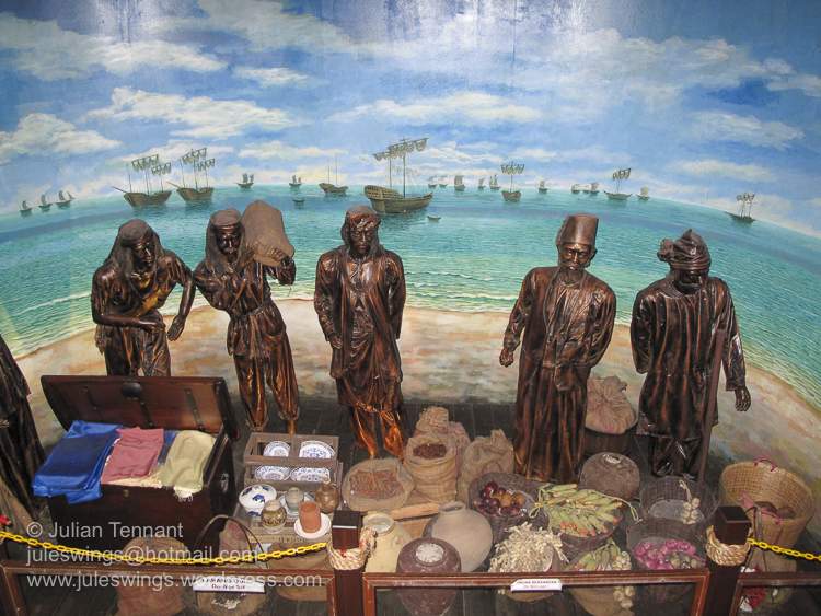 Portuguese era trading at the Maritime Museum of Malacca.