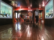 The maritime museum's exhibition space below deck on the Flor de la Mar replica