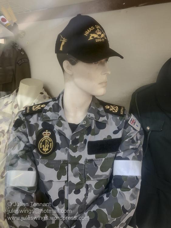 Royal Australian Navy submariner wearing the Disruptive Pattern Navy Uniform (SW12). Photo: Julian Tennant