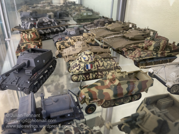Some of the extensive range of model tanks and AFV's on display at the Merredin Military Museum. Photo: Julian Tennant