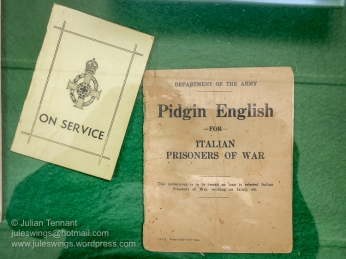 Two of the Australian Army issued booklets on display at the Merredin Military Museum. Photo: Julian Tennant